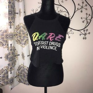 D.A.R.E festival hippie Crop top (fits like a M)